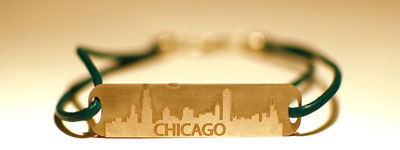 Chicago skyline bracelet